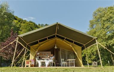 Grote foto luxe safaritent in het zonnige zuiden vakantie europa zuid