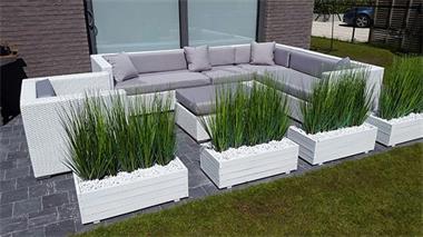 Grote foto promo loungeset wit wicker tuin set 1395 tuin en terras tuinmeubelen