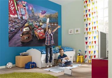 Grote foto cars fotobehang vliesbehang muurdeco4kids kinderen en baby complete kinderkamers