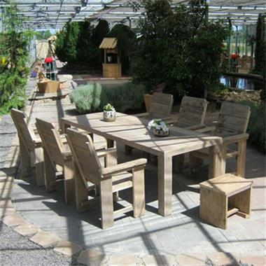 Grote foto steigerhout tuinset rustikal meubelen tuin en terras tuinmeubelen