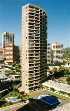 Grote foto benidorm edificio gemelos 4 zone levante vakantie spaanse kust