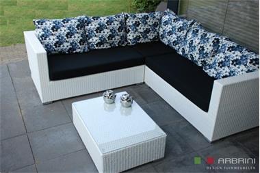 Grote foto loungeset wit wicker ibiza aanbieding tuin en terras tuinmeubelen