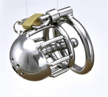 Grote foto nieuwste kuishuid kooien met metalen urethale buis erotiek sm artikelen
