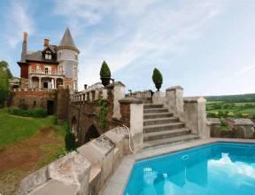 Grote foto uniek kasteel met zwembad sauna voor 10 personen vakantie belgi