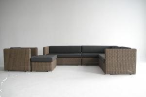 Grote foto loungeset riet natuur van 5 5mm rondwicker tuin en terras tuinmeubelen