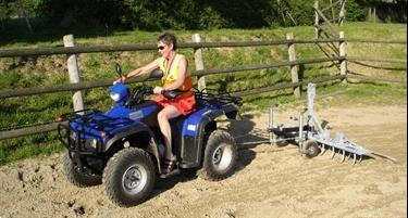 Grote foto manegevlakker voor auto quad trekker of paard dieren en toebehoren overige toebehoren