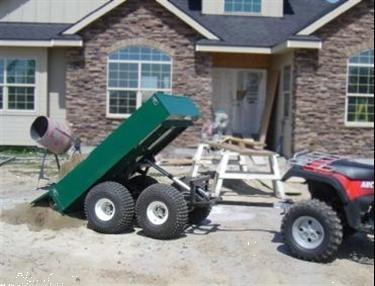 Grote foto quad kipwagen dubbelasser met scharnierklep tuin en terras werktuigen