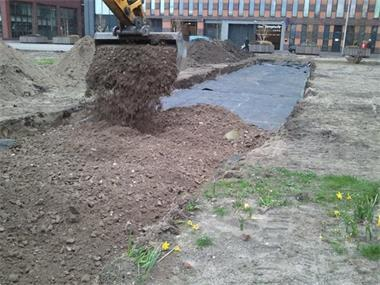 Grote foto anti worteldoek gronddoek drukverdeeldoek tuin en terras kunstgras