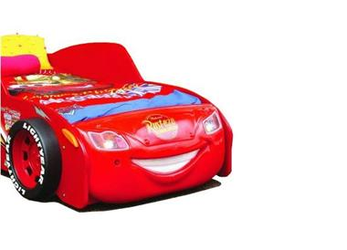 Grote foto autobed cars lightning mcqueen rood kinderbed kinderen en baby complete kinderkamers