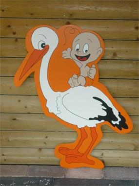 Grote foto geboortebord westervoort ooievaar orange kinderen en baby kraamcadeaus en geboorteborden