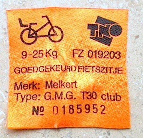 Grote foto fietsstoeltje kinderzitje achter op de fiets fietsen en brommers onderdelen