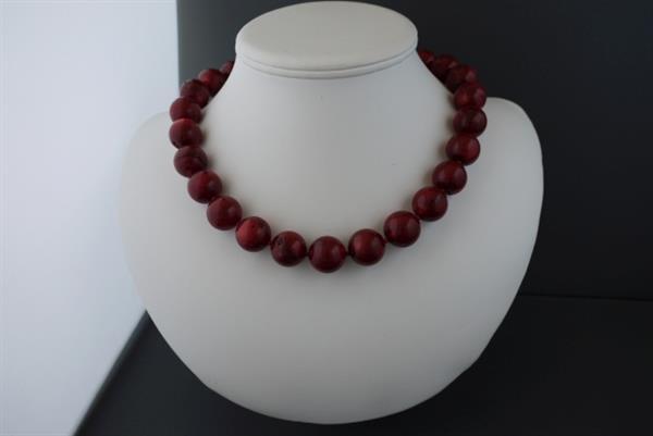 Grote foto bloedkoralen 16mm ketting oorhanger set sieraden tassen en uiterlijk kettingen