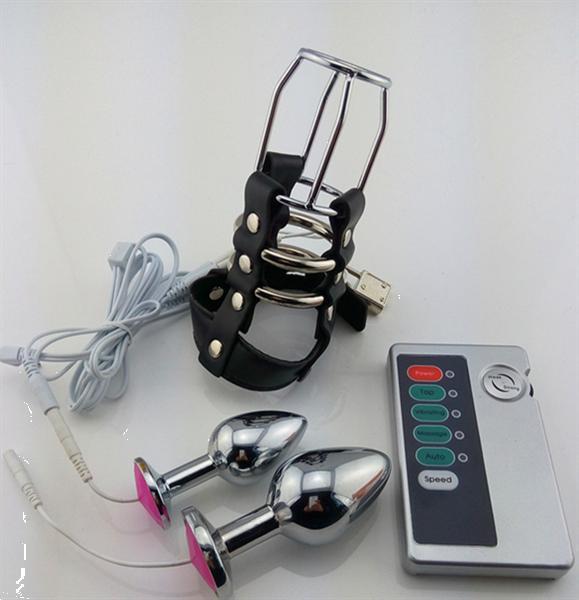 Grote foto cb6000 elektrische shock kuisheid device k11 erotiek electro sex