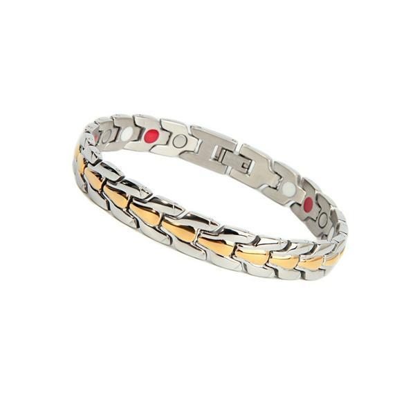 Grote foto heren armband met magneten model osb 900sg sieraden tassen en uiterlijk armbanden voor hem