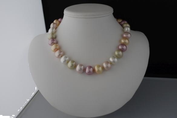 Grote foto shell pearl ketting oorhanger set sieraden tassen en uiterlijk kettingen