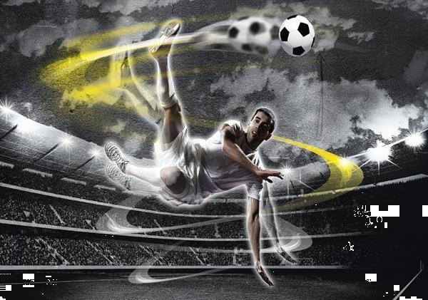 Grote foto voetbal behang poster fotobehang muurdeco4kids kinderen en baby inrichting en decoratie