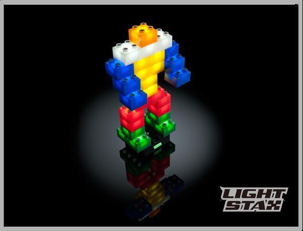 Grote foto bouwstenen met veilige led verlichting light stax kinderen en baby educatief en creatief