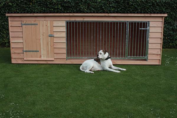 Grote foto luxe douglas hondenkennel met nachthok type bello dieren en toebehoren hondenhokken en kooien