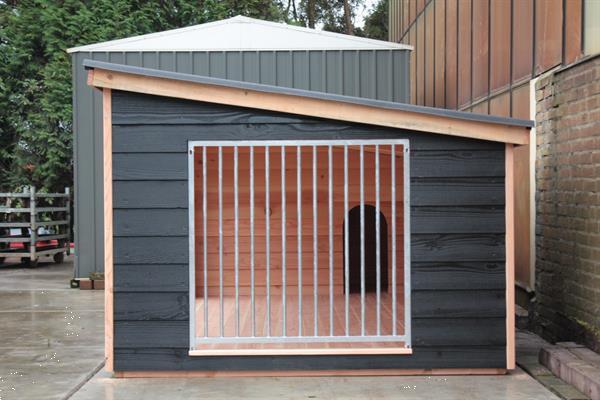 Grote foto zeer grote hondenkennel type max xl zwart dieren en toebehoren hondenhokken en kooien