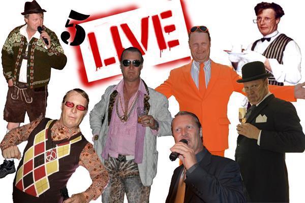 Grote foto five live diensten en vakmensen entertainment