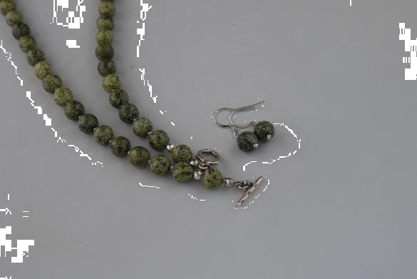 Grote foto serpentijn ketting oorhanger set sieraden tassen en uiterlijk kettingen