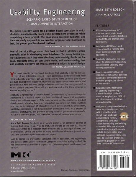 Grote foto usability engineering m.b. rosson j.m. carroll boeken wetenschap