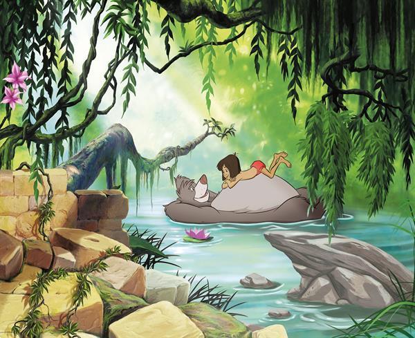 Grote foto jungle book fotobehang jungle book vliesbehang kinderen en baby inrichting en decoratie