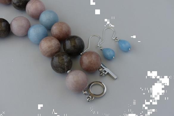 Grote foto jade 20 mm ketting oorhanger set sieraden tassen en uiterlijk kettingen