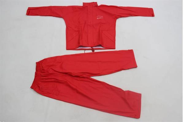 Grote foto ron thompson pro flexi soft rain suit 2 delig rood maat s sport en fitness vissport