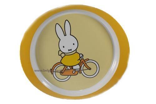 Grote foto ontbijtbordje nijntje op de fiets kinderen en baby overige babyartikelen
