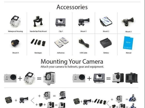 Grote foto full hd 1080p action cam go pro 7 8 sj4000 alternatief actie audio tv en foto algemeen
