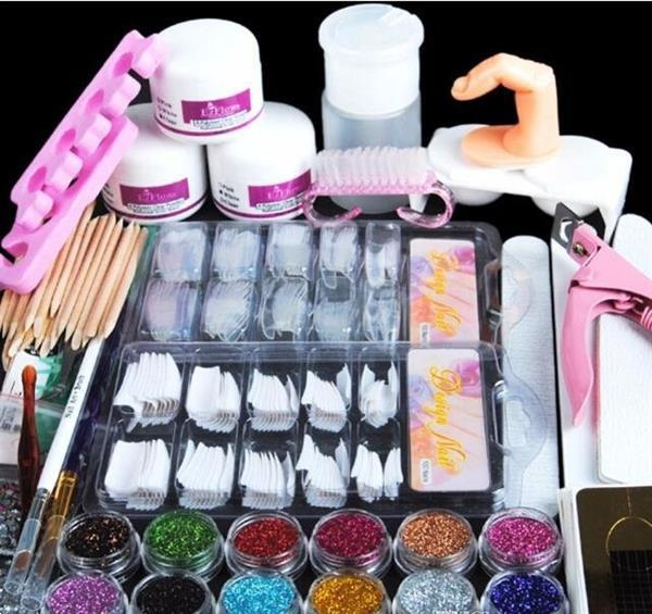 Grote foto nep nagels acryl nagel kit set gel startpakket nepnagels man beauty en gezondheid make up sets