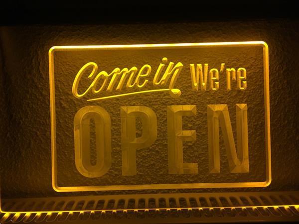 Grote foto open neon bord lamp led 3d verlichting reclame lichtbak 23 huis en inrichting overige
