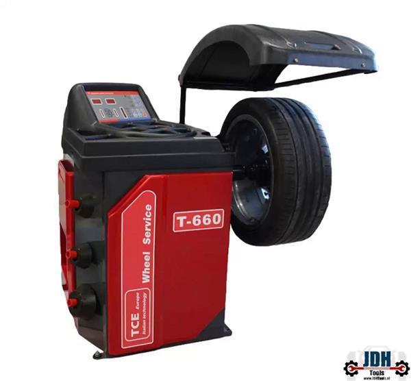 Grote foto tce banden balanceer apparaat t 660 auto diversen gereedschap
