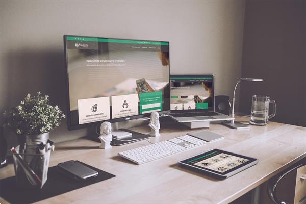 Grote foto professionele webdevelopers staan voor jou klaar diensten en vakmensen webdesigners en domeinnamen