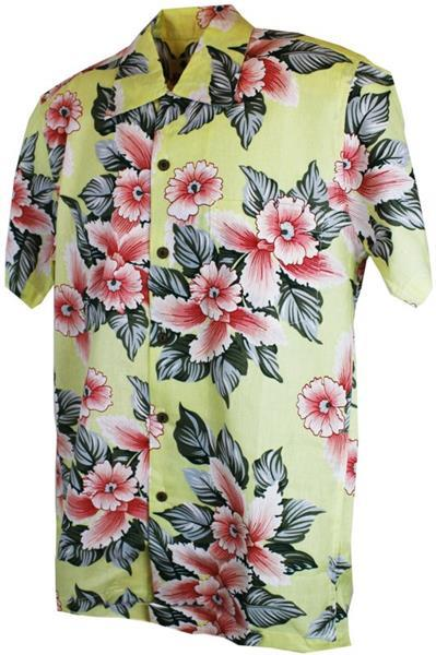 Grote foto karmakula bali cream cotton hawaiien shirt. kleding heren t shirts