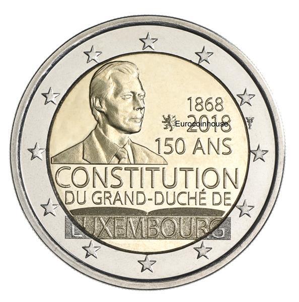 Grote foto luxemburg 2 euro 2018 150 jaar grondwet verzamelen munten overige