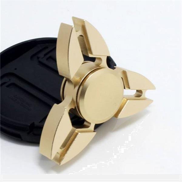 Grote foto falcon tri fidget hand spinner anti stress draaier toy goud verzamelen speelgoed