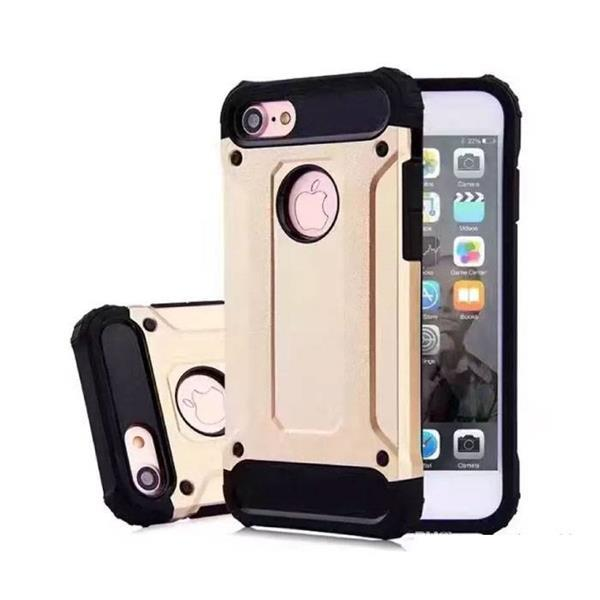 Grote foto iphone 7 plus gold plated armor case cover cas silicone tp telecommunicatie mobieltjes