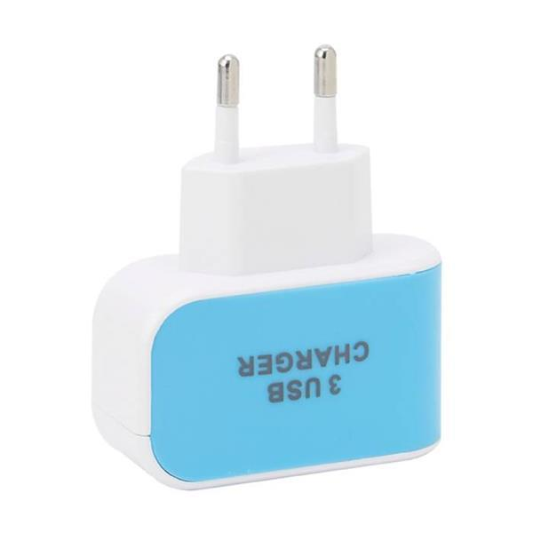Grote foto triple 3x usb port iphone android muur oplader 5v 3.1a telecommunicatie opladers en autoladers