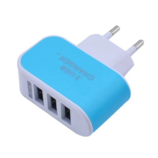 Grote foto 5 pack triple 3x usb port iphone android muur oplader wall telecommunicatie opladers en autoladers