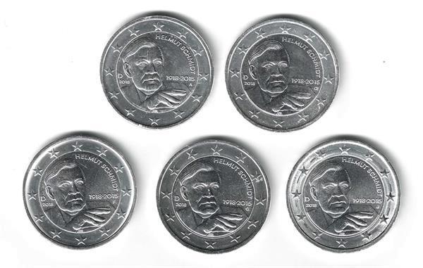 Grote foto duitsland 2 euro 2018 helmut schmidt verzilverd 5 verzamelen munten overige