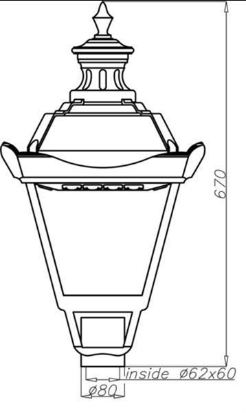 Grote foto rosa os 1 led lantaarnpaal armatuur 32 watt tbv tuin park zakelijke goederen overige zakelijke goederen