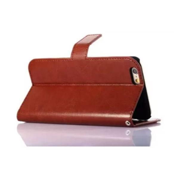 Grote foto samsung galaxy s7 edge leren wallet flip case cover cas ho telecommunicatie mobieltjes
