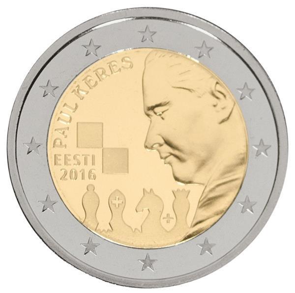 Grote foto estland 2 euro 2016 paul keres verzamelen munten overige