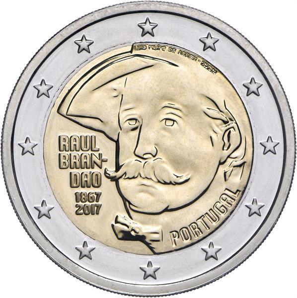 Grote foto portugal 2 euro 2017 raul brand o verzamelen munten overige