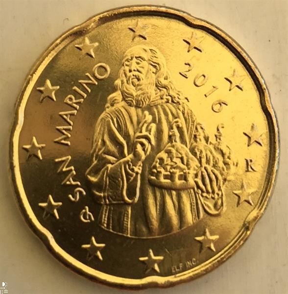 Grote foto san marino 20 cent 2016 verzamelen munten overige