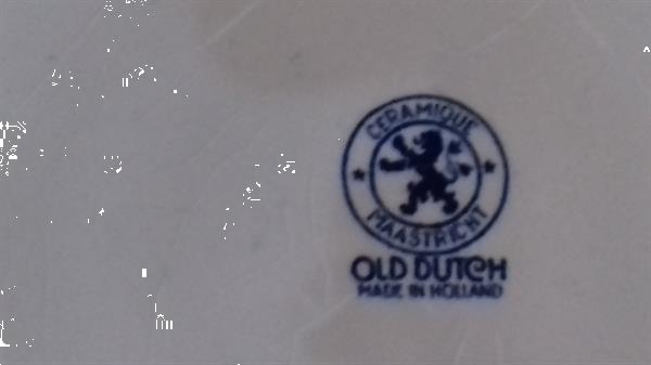 Grote foto bord ceramique maastricht old dutch antiek en kunst servies los