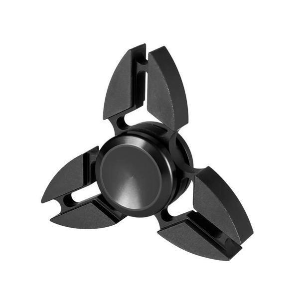 Grote foto falcon tri fidget hand spinner anti stress draaier toy zwart verzamelen speelgoed