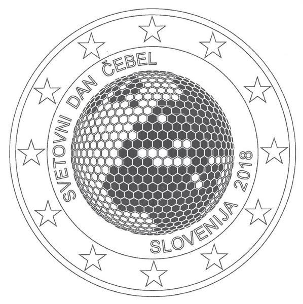 Grote foto sloveni 2 euro 2018 wereldbijendag verzamelen munten overige